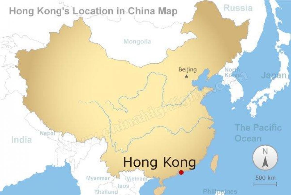 hong kong karta Kina i hong Kong   karta Kine i Hong kong (Kina) hong kong karta